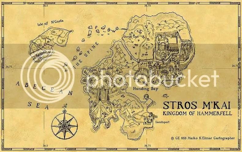 Redguard - Map of Stros M'kai