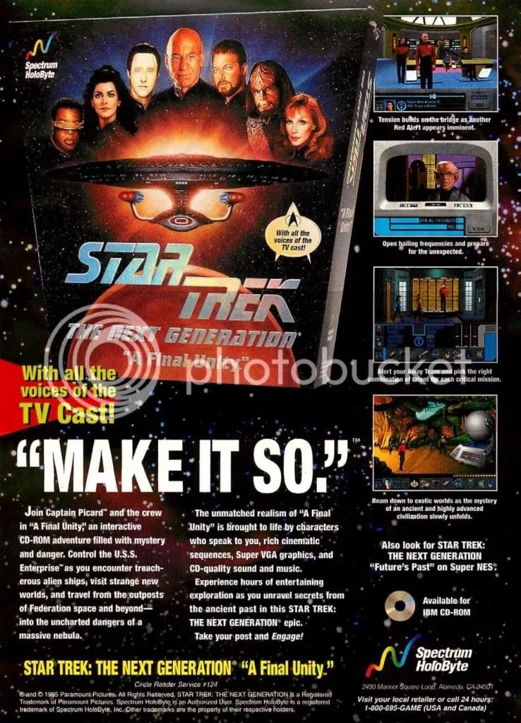 Star Trek: A Final Unity ad 1995
