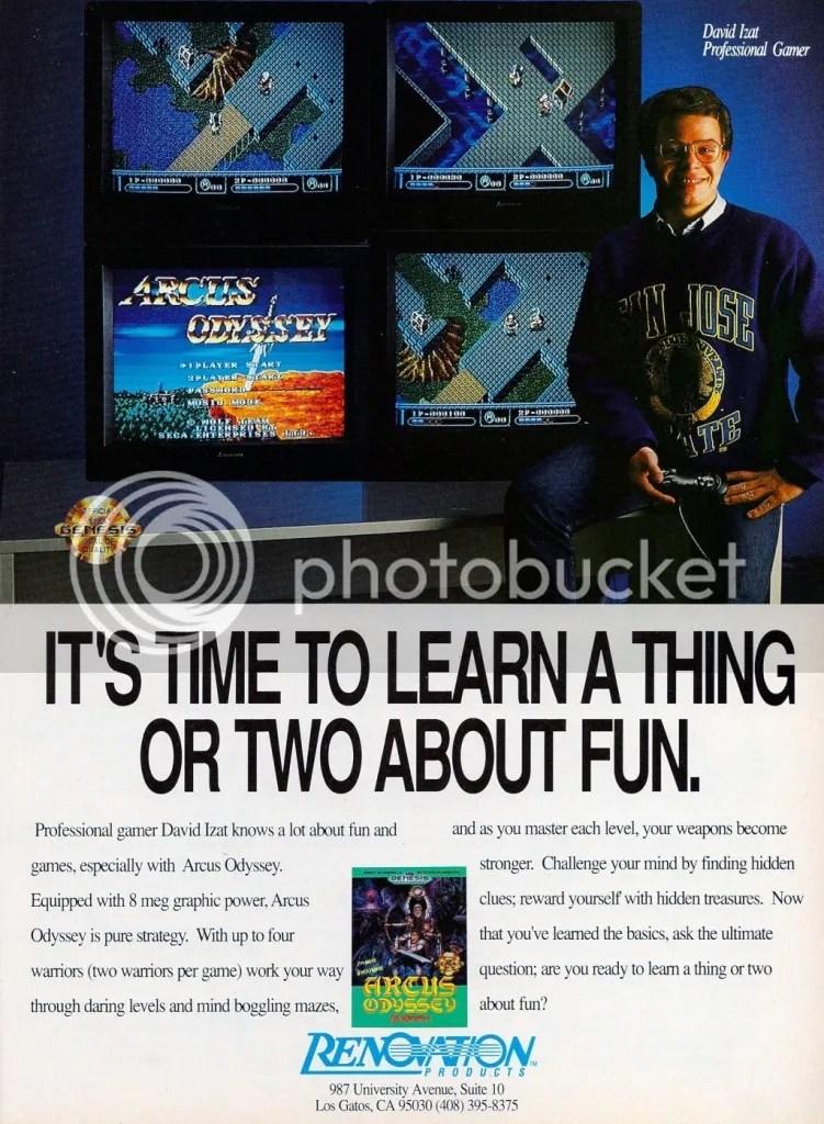 Arcus Odyssey ad 1991