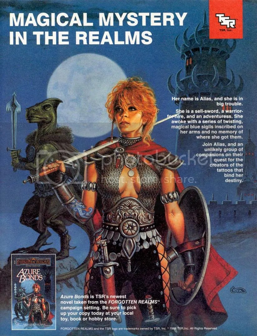 Written by Jeff Grubb and Kate Novak in 1988, the novel came out before the game and would even get its own AD&D module. The same art used for the book would also adorn the game box.