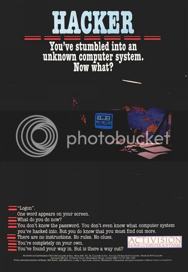 Hacker 1985 ad