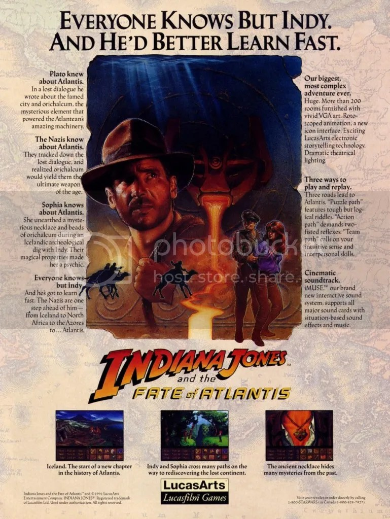 Indiana Jones and the Fate of Atlantis '92