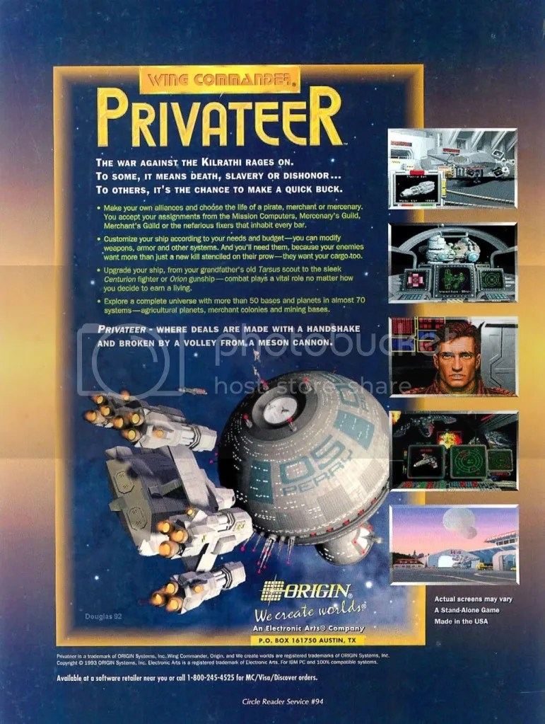 Privateer ad 1993