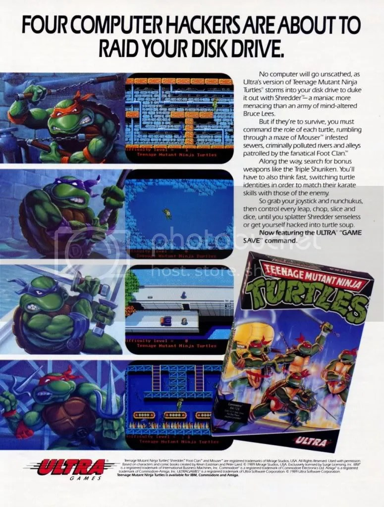 TMNT ad for the ports