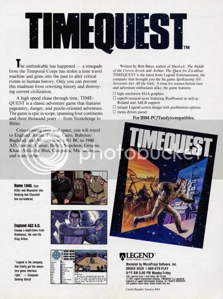 Tiemquest 1991 ad