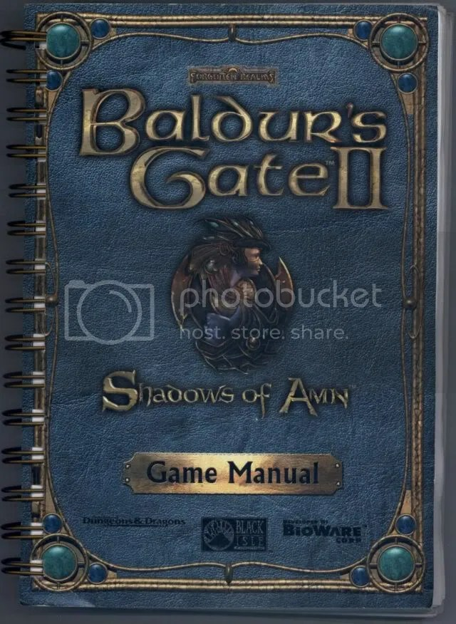 Baldur's Gate 2 manual cover