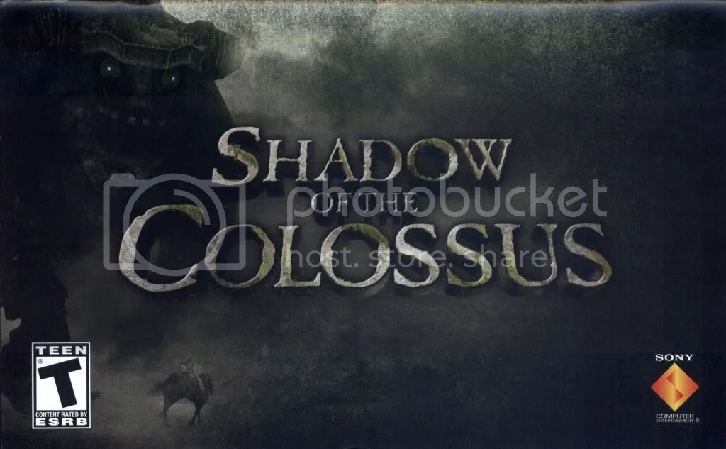 Shadow of the Colossus manual cover