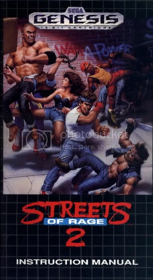 Streets of Rage 2 manual cover
