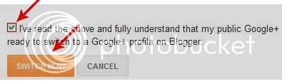 Upgrade Profile Blogger