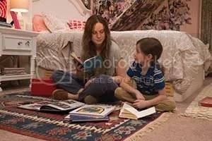 Brie Larson and Jacob Tremblay in Room