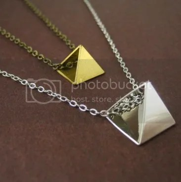 Pyramid Bead Necklace