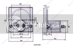 DC 100A Analog Ammeter Panel AMP Current Meter 85C1 Gauge