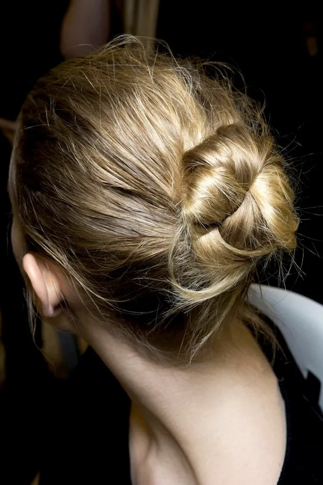 Le Fashion Hair Inspiration Twisted Messy Buns Isabel