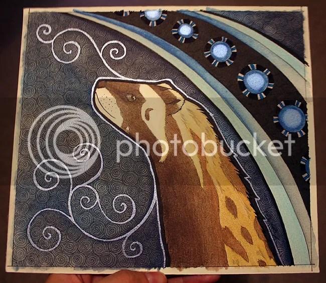 marbled polecat as totem by Ravenari