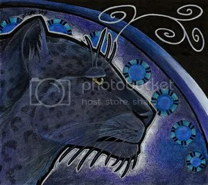 Melanistic Persian Leopard by Ravenari