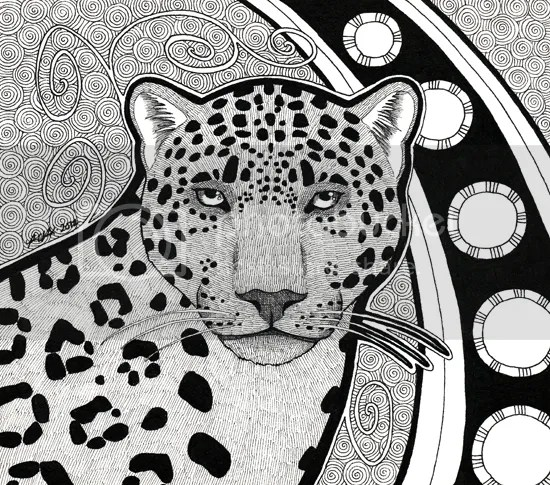 Melanistic Jaguar / commission, by Pia Ravenari 2012