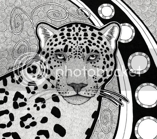 Melanistic Jaguar / commission, by Pia Ravenari 2012