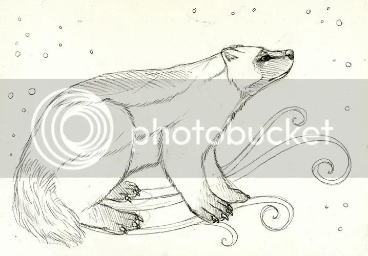 Celestial Wolverine Totem Sketch by Ravenari