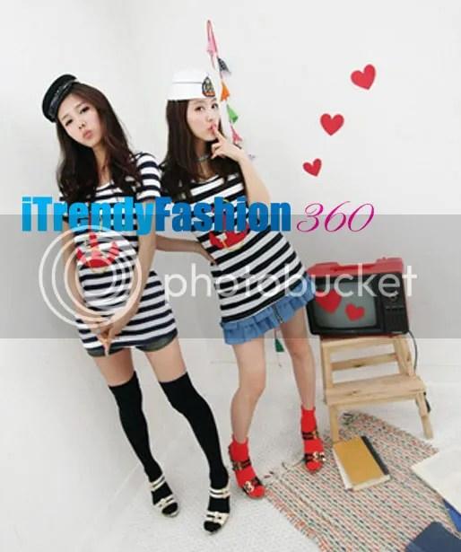 หมวกแฟชั่นเกาหลี ดีไซด์กะลาสีเรือ
