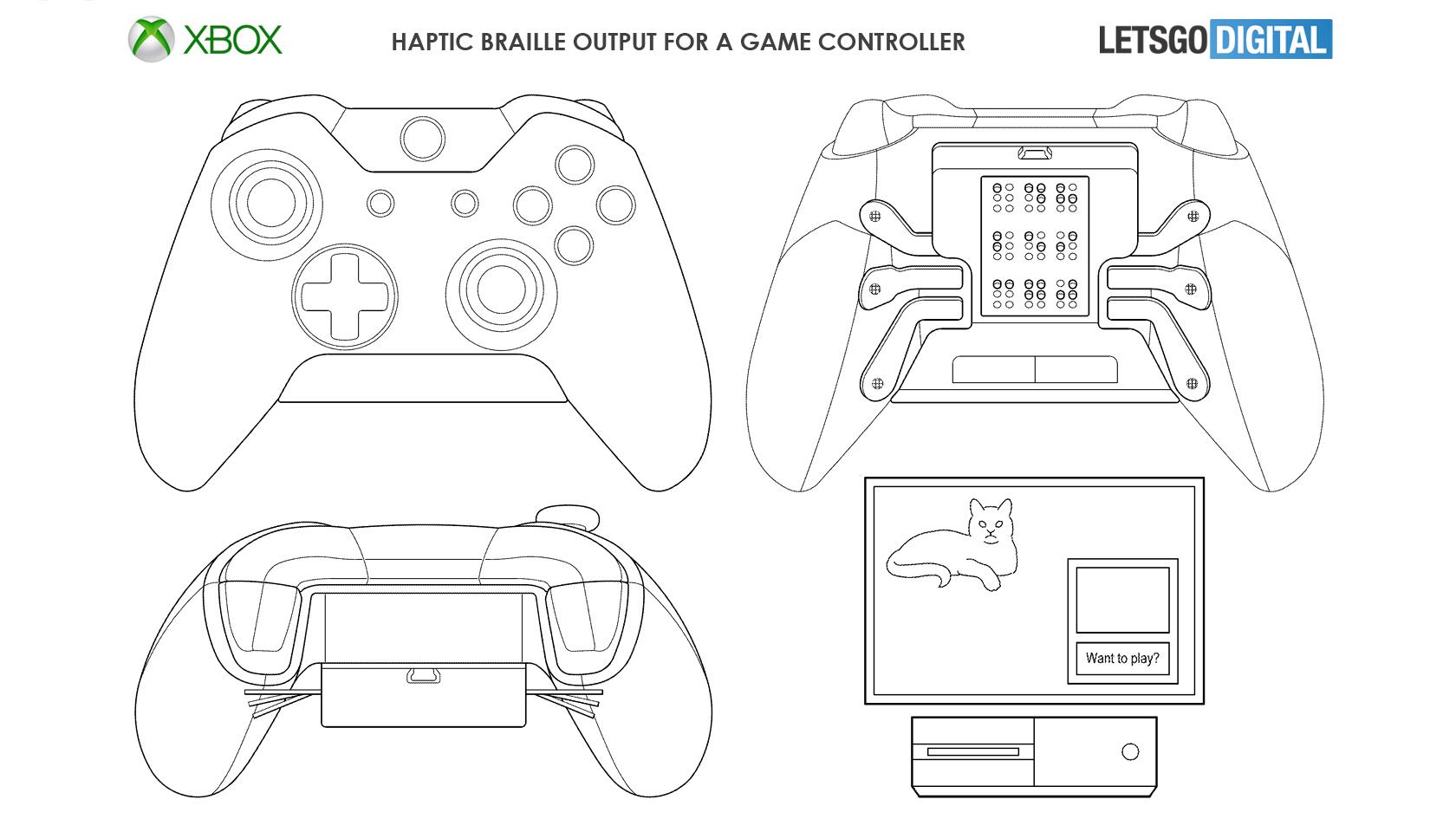 Microsoft Patenta Un Mando De Xbox En Braille Para