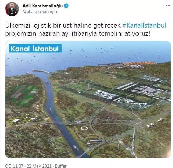dYAIi 1621672739 5137 - Bakan Karaismailoğlu'ndan Kanal İstanbul Açıklaması