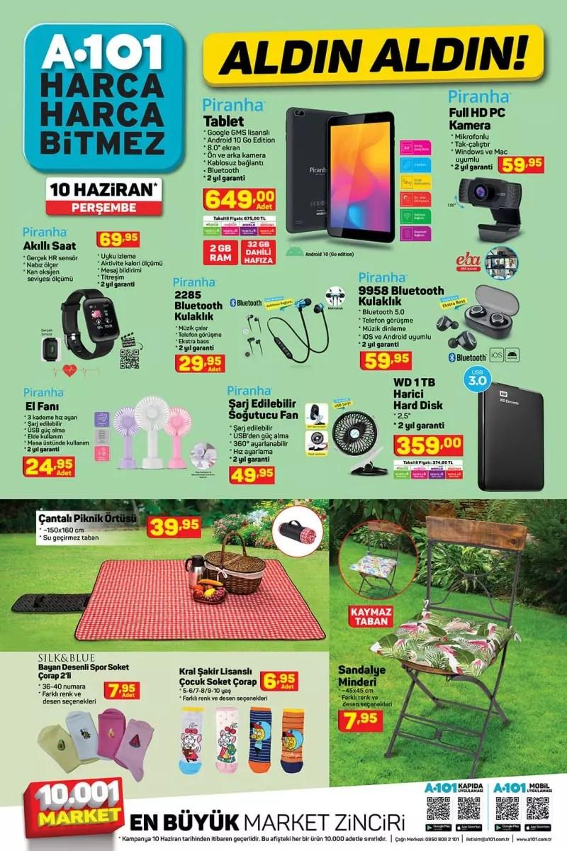 10 Haziran A101 Aktüel Kataloğu! Elektronik, Züccaciye, beyaz eşya, plaj ve deniz ürünlerinde..