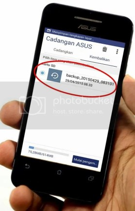 Cara Backup data asus zenfone 4 dan 4c