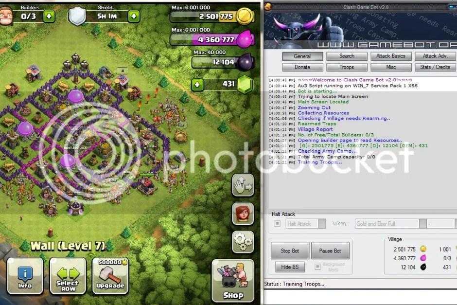 Cara Biar COC Selalu Online dengan Clash Game Bot.V4.2.3