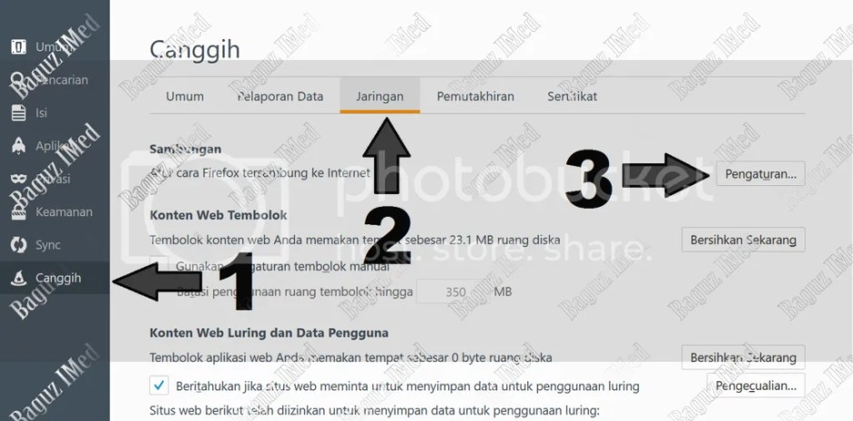 Cara Seting Proxy di browser mozilla Firefox