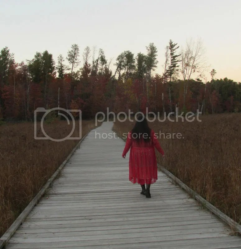 Walking Away: A Self Portrait in Red, photo by Valentina Kaquatosh, 2015