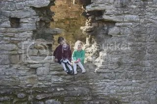 The girls at Easby Abbey