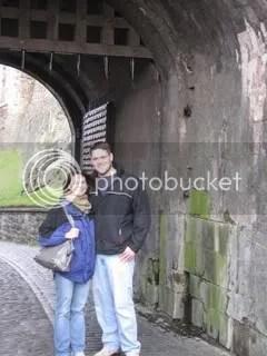 Marcus and Kelly in Edinburgh Castle