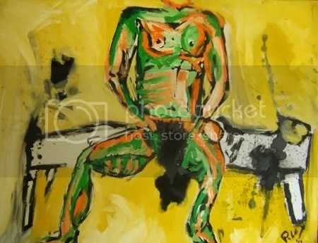 Modern art nude Pablo Saborio 2012