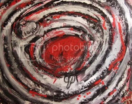 Abstraction of being born 2013 painting