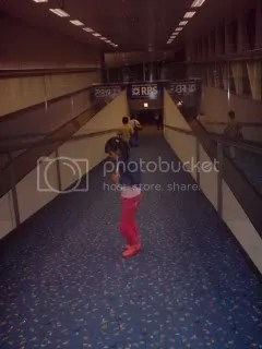 Walking to the airplane
