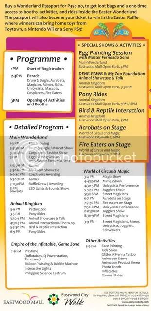 Easter Wonderland Program