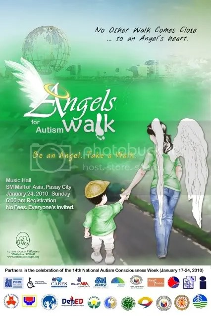 Angels Walk For Autism 2010 Poster