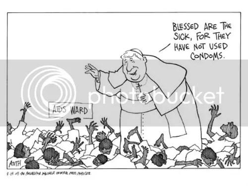 Pope Against Condoms