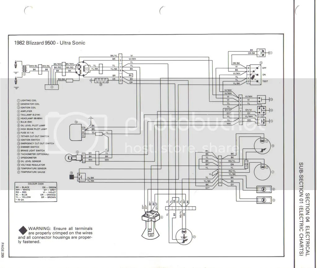 Diagram For Ski Doo Wiring Schematic Ski Doo Cooling