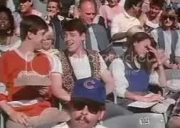 Ferris Bueller at the Cubs game