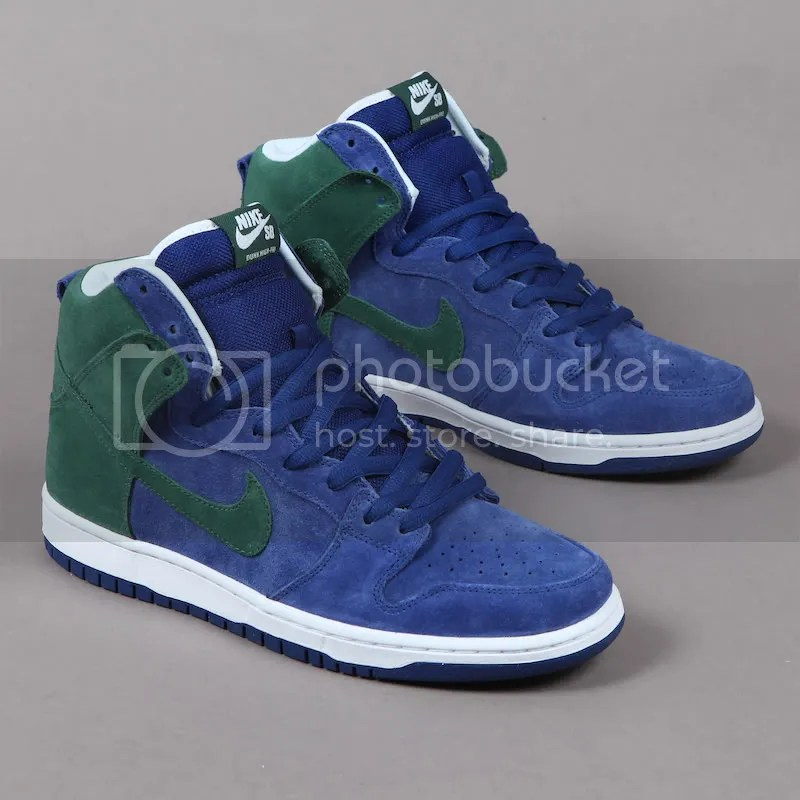 Nike SB Dunk Hi Deep Royal/Noble Green