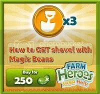 How to get shovel with magic beans