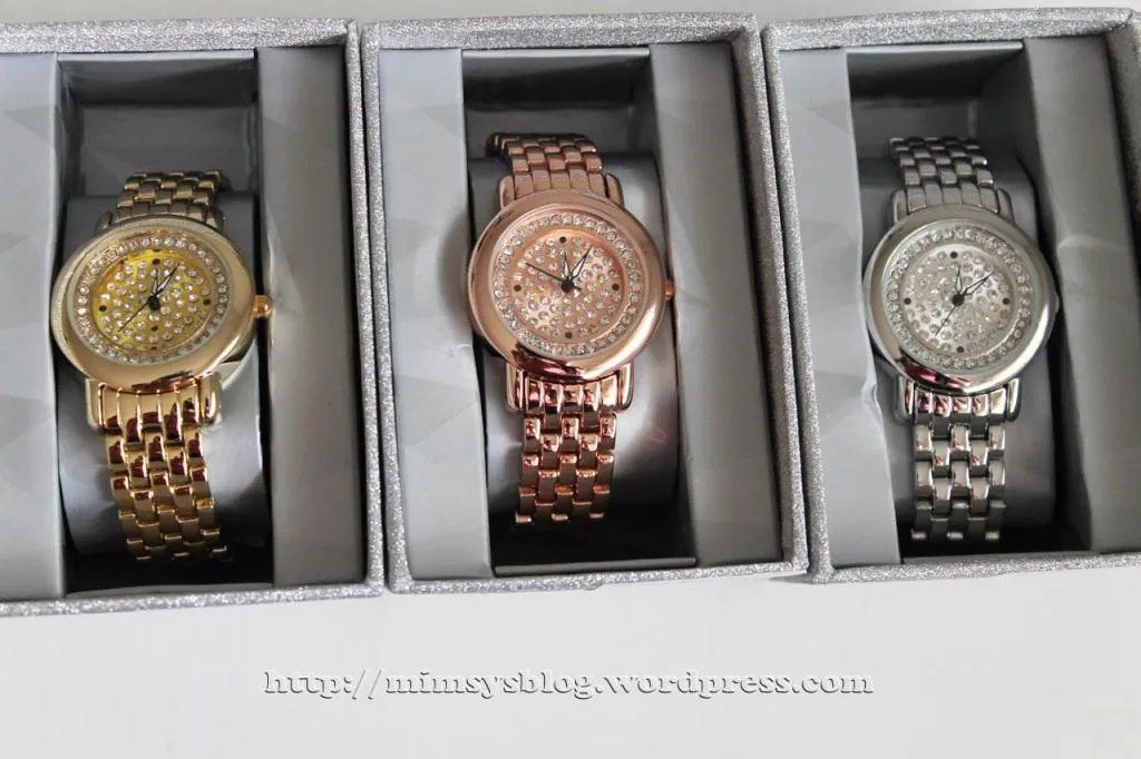 Target Pave Dial Watches with Rhinestones - Gold, Rose Gold, Silver