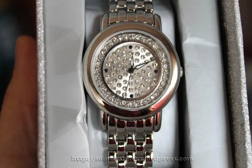 Target Pave Dial Watch - Silver