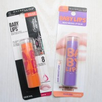 Maybelline Baby Lips Moisturizing Lip Balm - Cherry Me & Peach Kiss