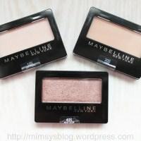 Maybelline Expert Wear Eyeshadows - Soft Pearl, Linen, Nude Glow