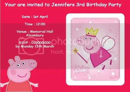 Peppa Pig Invitation Template Party Invitations Ideas