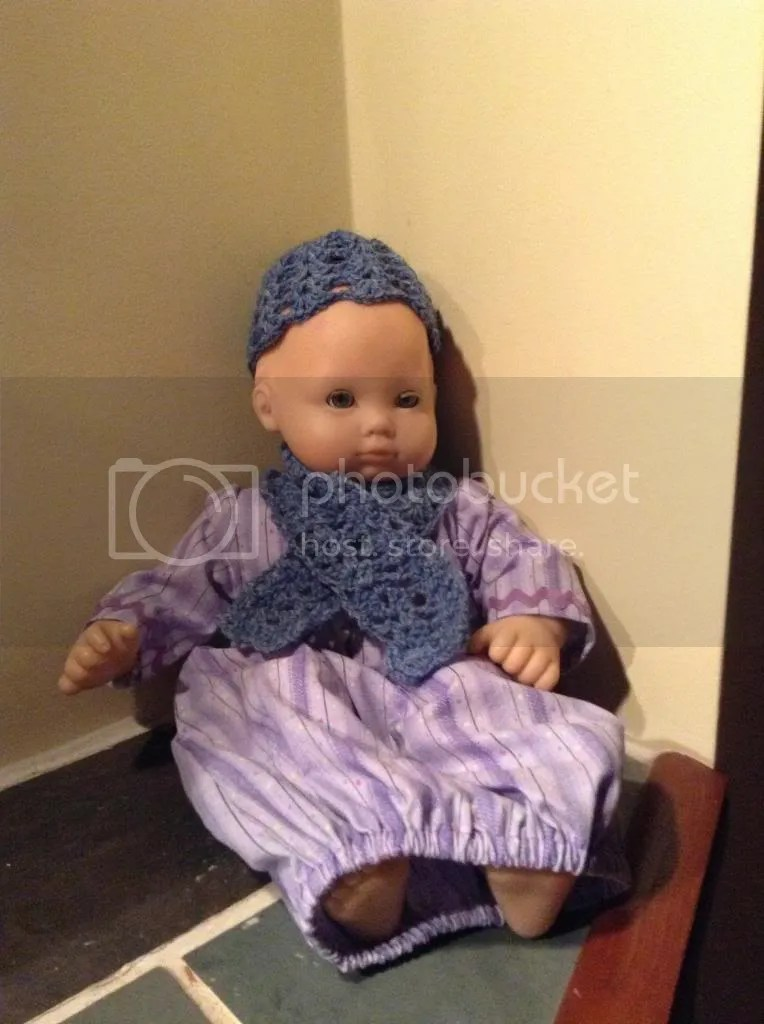 Doll hat and scarf!