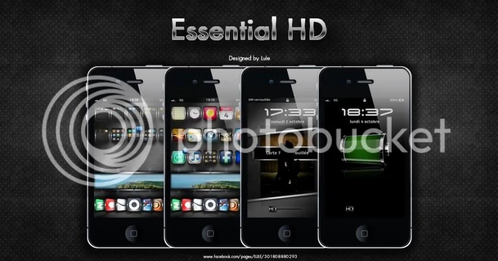 ثيم Essential Hd فائق الجودة للأيفون 4 وشاشة Retina Ahl