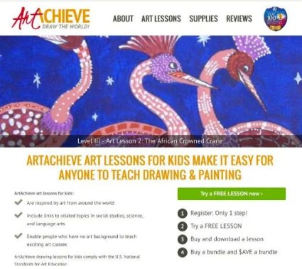 Art Lessons for Children ArtAchieve Review